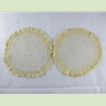 Doily with Yellow Trim Pair