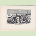 Provincetown, On Cape Cod Wood Engraving Framed