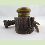 Stag Antler Horn Inkwell