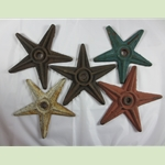 Cast Iron Star House Anchors Set Of Five